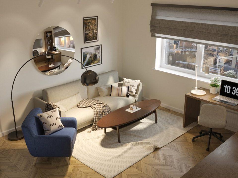 дизайн-проект 3 комнатной квартиры с элементами пермского звериного стиля